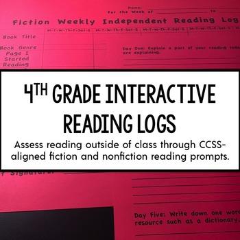 4th Grade Interactive Reading Log {Common Core Aligned}