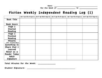 4th grade interactive reading log common core aligned by for 4th grade reading log template