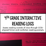 4th Grade Interactive Reading Log {Common Core Aligned}