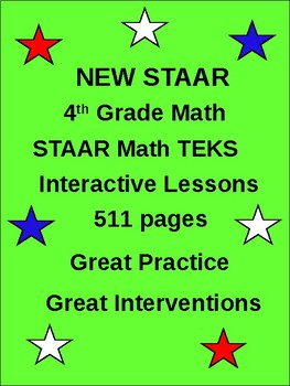 4th Grade STAAR TEKS Math: (511 Interventions pages)