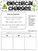 4th Grade Interactive Science Notebook for Electrical Charges {4.P.1.2}