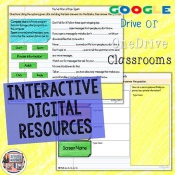 4th Grade Internet Safety Digital Interactive Notebook