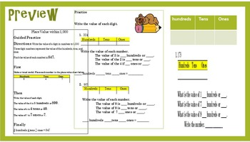 4th Grade Intervention: Using place value up to 1,000