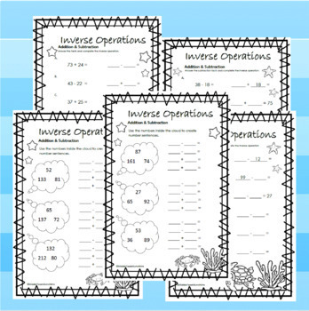 4th Grade Inverse Operations: Addition & Subtraction