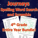 4th Grade JOURNEYS Spelling Word Search and Scramble -- EN