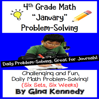 Daily Problem Solving for 4th Grade: January Word Problems (Multi-step)
