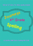 4th Grade Journeys 2014 Spelling Lists (Lessons 1-30)