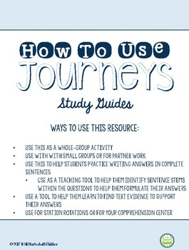 4th Grade Journeys, Unit 1 Study Guide Comprehension Questions