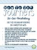 4th Grade Journeys, Unit 1 Tic-Tac-Vocabulary