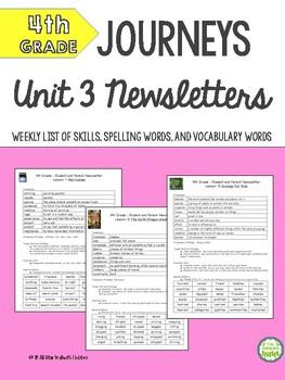4th Grade Journeys Unit 3 BUNDLE of Resources