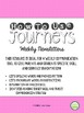 4th Grade Journeys Unit 3 Weekly Newsletters