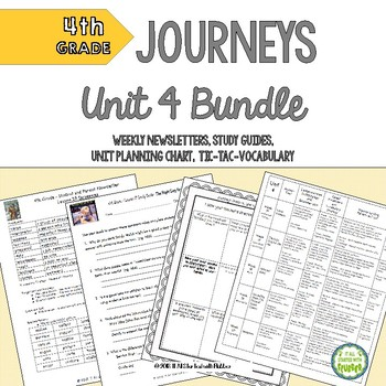 4th Grade Journeys Unit 4 BUNDLE of Resources