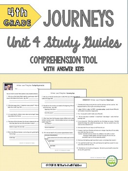 4th Grade Journeys Unit 4 ALL RESOURCES