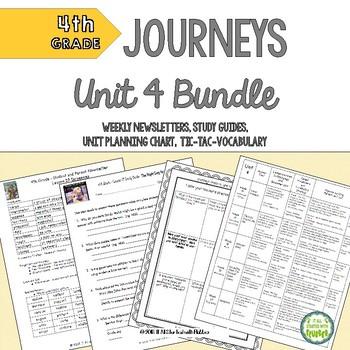 4th Grade Journeys 2014 Unit 4 BUNDLE of Resources
