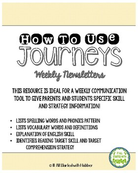 4th Grade Journeys Unit 4 Weekly Newsletters