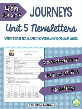 4th Grade Journeys Unit 5 BUNDLE of Resources