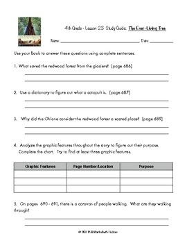 4th Grade Journeys, Unit 5 Study Guide Comprehension Questions