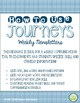 4th Grade Journeys 2014, Unit 5, Weekly Newsletters
