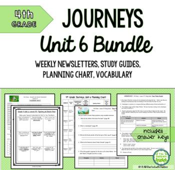 4th Grade Journeys Unit 6 BUNDLE of Resources