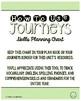 4th Grade Journeys Unit 6 Skills Planning Chart