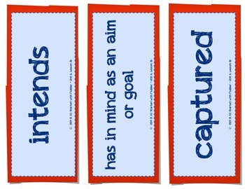 4th Grade Journeys Unit 6 Vocabulary Card Bundle for Lessons 26-30