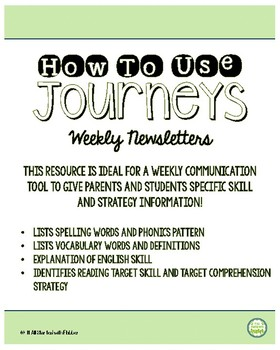 4th Grade Journeys Unit 6 Weekly Newsletters