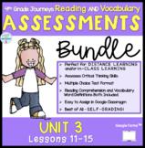 4th Grade Journeys *BUNDLE* Digital Reading Assessments UNIT 3 Lessons 11-15