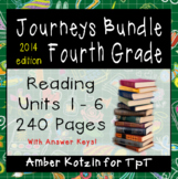 4th Grade Journeys Bundle: Units 1 - 6 Supplemental Activities