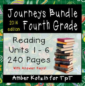 4th Grade Journeys Bundle: Units 1 - 6 Supplemental Activities