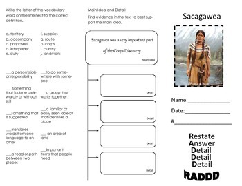 4th Grade Journeys Lesson 20 Sacagawea