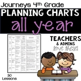 4th Grade Journeys Planning Chart BUNDLE - ALL YEAR!