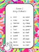 4th Grade Journeys Spelling Lists Tropical Theme