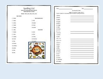 4th Grade Journeys U3 L14 Life and Times of the Ant Spelling Vocab Activities