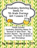 4th Grade Journeys: Unit 1 Lessons 1-5 Vocabulary Match Game Bundle