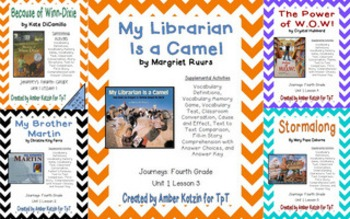 4th Grade Journeys: Unit 1 Supplemental Activities