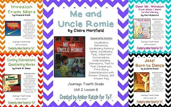 4th Grade Journeys: Unit 2 Supplemental Activities
