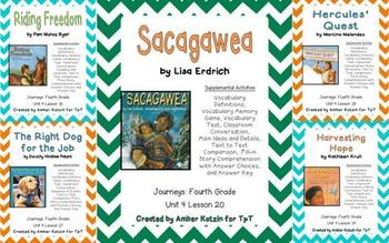 4th Grade Journeys: Unit 4 Supplemental Activities