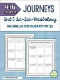 4th Grade Journeys Unit 5 Tic-Tac-Vocabulary