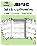 4th Grade Journeys Unit 6 Tic-Tac-Vocabulary