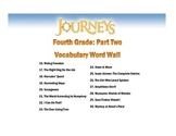 4th Grade Journeys Vocabulary Word Wall (Units 4, 5, and 6)