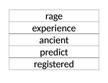 4th Grade Journey's Vocabulary Words Printable