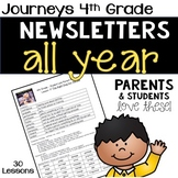 4th Grade Journeys Weekly Newsletter BUNDLE - ALL YEAR!
