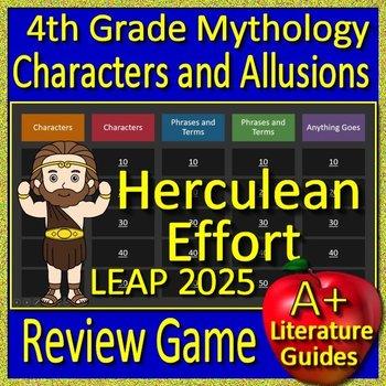 4th Grade LEAP 2025 Test Prep Greek Mythology Allusions Review Game
