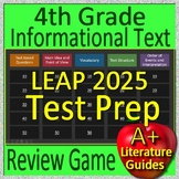 4th Grade LEAP 2025 Test Prep Informational Text and Non-Fiction Review Game