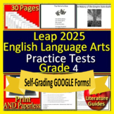 4th Grade LEAP 2025 Test Prep - Practice Tests - English Language Arts
