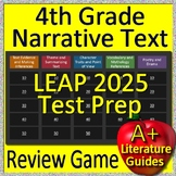 4th Grade LEAP 2025 Test Prep Reading Literature and Narrative Review Game