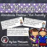 "4th Grade Language Arts Common Core Standards Posters- ""Kid Friendly"""