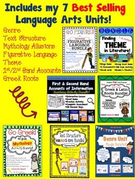 4th Grade Language Arts MEGA Bundle of Skill-Based Units