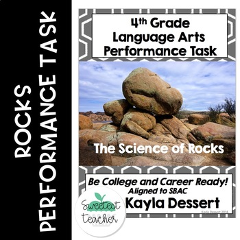 4th Grade Language Arts Performance Task- Rocks With Editable Google Docs