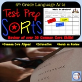 4th Grade Language Arts Test Prep Sorting Skill Boards (Common Core Aligned)